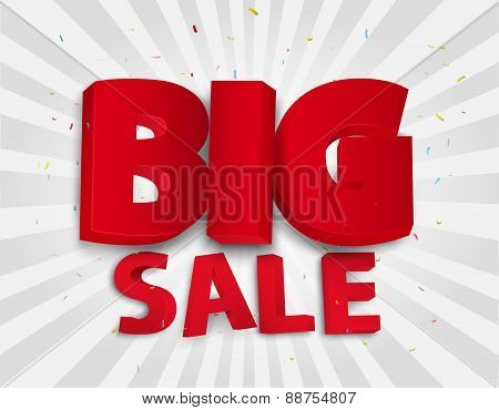 Sale background with colorful confetti
