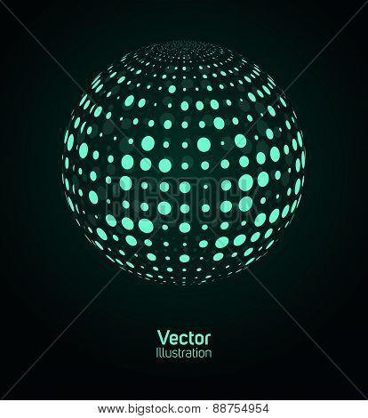 Green digital ball.