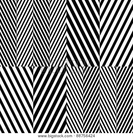 Abstract Black and White Herringbone Fabric Style Vector Seamles