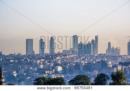 View On Skyscrapers In Istanbul