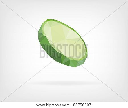 Low Poly Cucumber