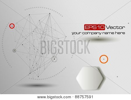 Technology and communication background. Vector illustration