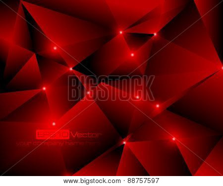 Red abstract technology background. Vector illustration