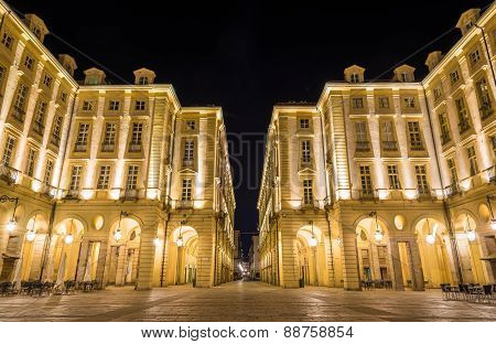 Buildings On The Square Of Palazzo Di Citta - Turin, Italy