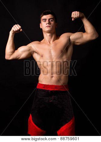 Male model. Kickboxing.