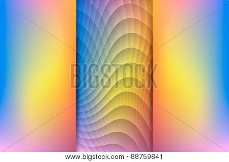Sunrise Colored Abstract Background, Vector Illustration