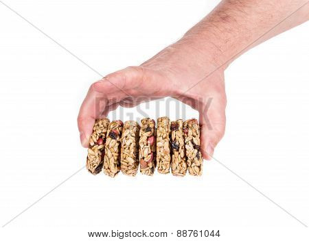 Candied roasted sunflower seeds in hand