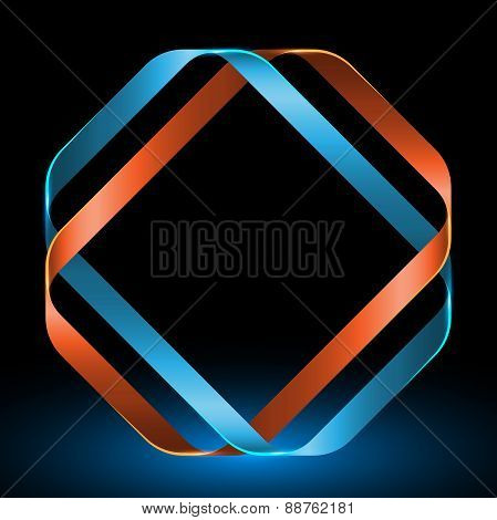 Abstract Mobius Strip Twisted Ribbons. Vector Illustration.