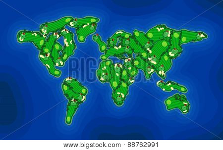 Golf Course Earth Map