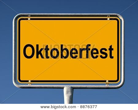 German street sign Oktoberfest