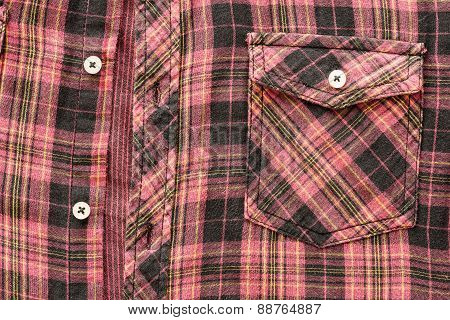 Man's Cotton Plaid Shirt Background