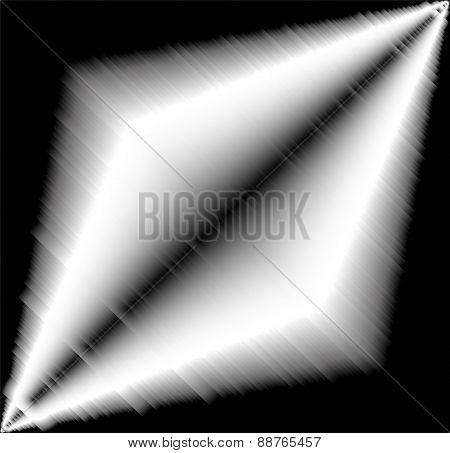 Black and White light effect aluminium