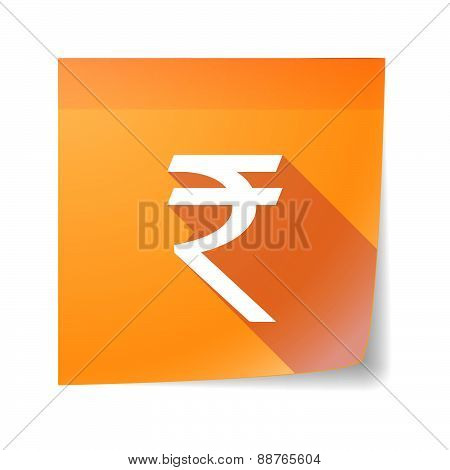 Sticky Note Icon With A Rupee Sign
