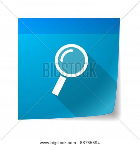 Sticky Note Icon With A Magnifier