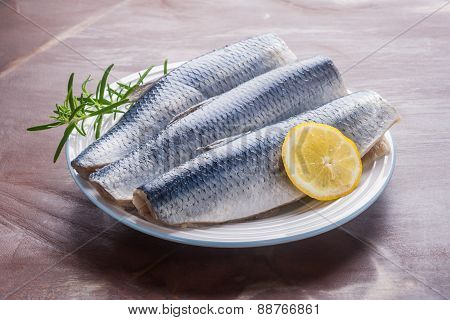Raw Herrings Fillets