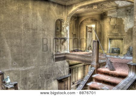 HDR photo of abandoned derelict house