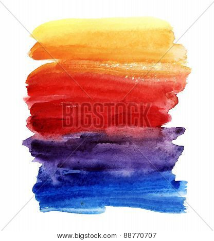 Multicolored watercolor vector background