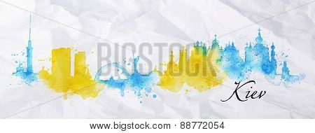 Silhouette watercolor Kiev