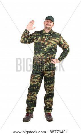 Man in military vest