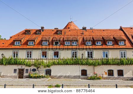 Old Vine House Building In Maribor, Slovenia