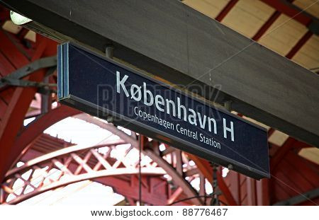 Central Railway Station In Copenhagen, Denmark