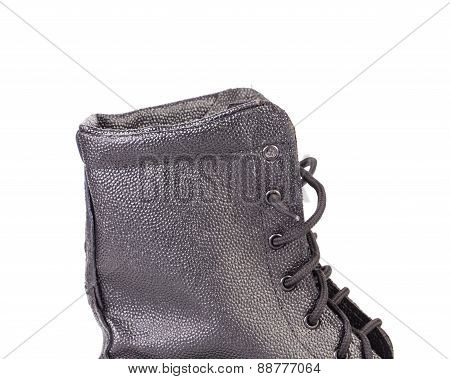 Work black leather boot