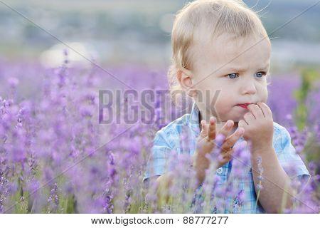 Baby Boy In  Field