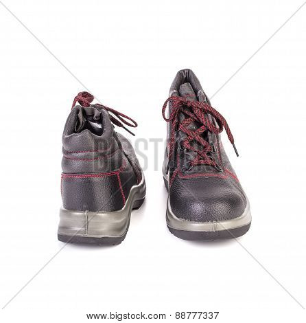 Work black boots