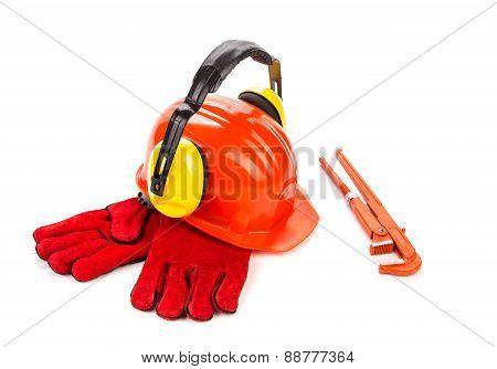 Red hard hat