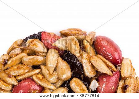 Cookie with sunflower seeds, nuts and raisins