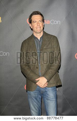 LAS VEGAS - APR 21: Ed Helms at the Warner Bros. Pictures Exclusive Presentation Highlighting the Summer of 2015 and Beyond at Caesars Pallace on April 21, 2015 in Las Vegas, NV