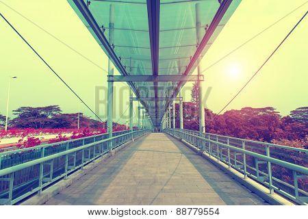 modern urban city architectural platform bridge