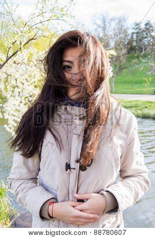 Turkish Girl Outdoors