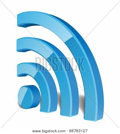 Wi Fi Wireless Network Symbol, Vector Illustration