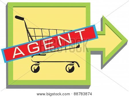 Symbol For The Sales Agent