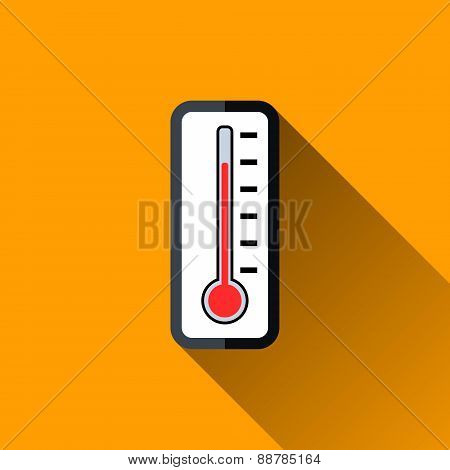 Thermometer Flat Icon, Vector Illustration