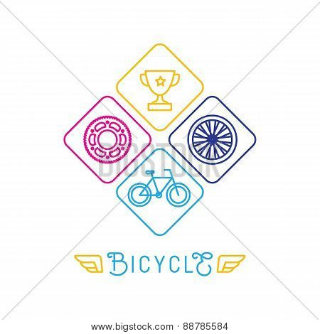 Vector Hipster Bicycle Logo Template