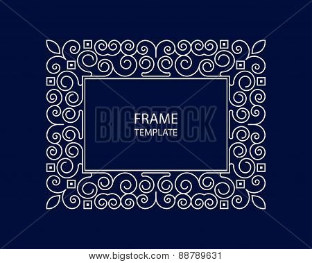 Decorative vector monogram