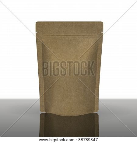 Mockup Foil Food Bag Package