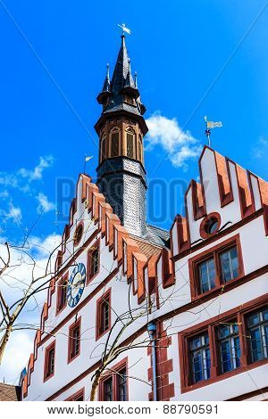 The Old Town Hall in Weinheim, at the marketplace, Germany