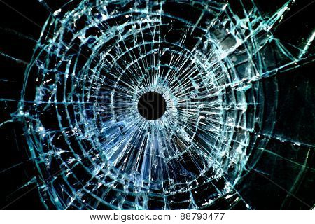 Bullet Hole Window
