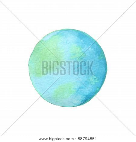 Vector illustration of watercolor earth. Ecology concept.