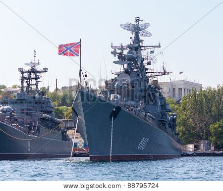 Ukraine, Sevastopol - September 02, 2011: Russian Frigate