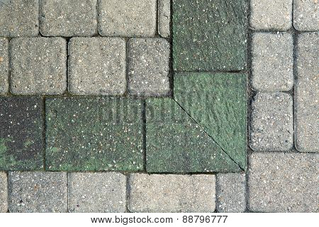 Corner Pattern In Grey Brick Paving