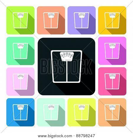 Scale Icon Color Set Vector Illustration.