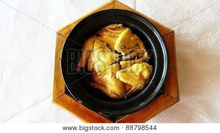 Stewed Whole Chicken Dish