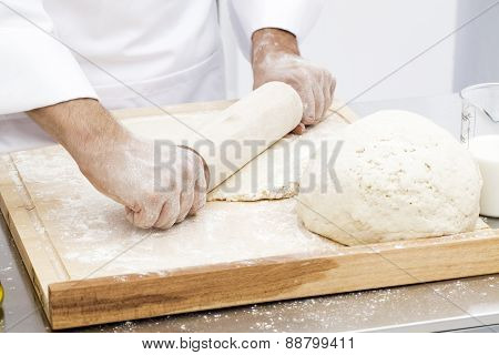 Rolling Up Dough