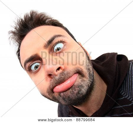 Young Man With Funny Expression