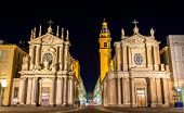 picture of turin  - Churches of San Carlo and Santa Cristina in Turin Italy - JPG