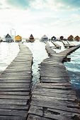 picture of chalet  - chalets cottages on the shore of a lake